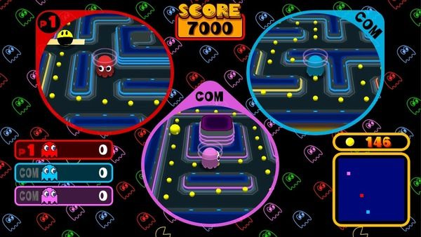 Namco Museum - Pac-Man Vs. to feature download play through eShop app   - play with 1 to 3 people on 1 Switch but only as Ghosts - multiplayer will require each player to have a controller - with two Switches one player can be Pac-Man and 1-3 people can be Ghosts - this is handled locally by downloading a free App on the eShop that enables Download Play - one person must have purchased the game to make this option available  from GoNintendo Video Games