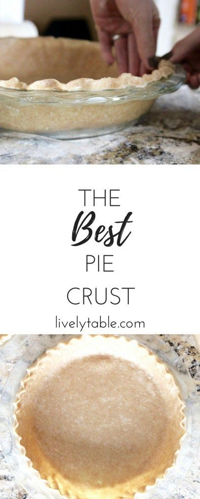 The best pie crust ever: a tender, flaky whole wheat pie crust made without shortnening. It's the perfect all-purpose base sure to make any pie more delicious! (vegan) | Via livelytable.com