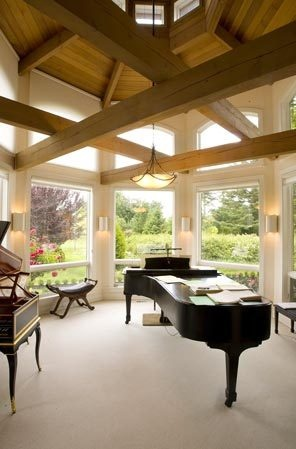 Such a beautiful room to play piano! I wish!