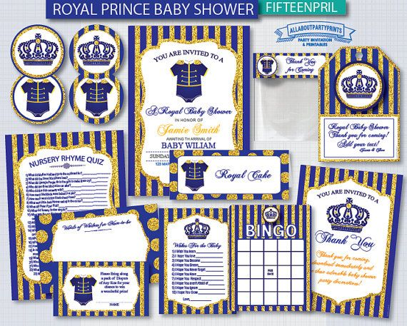 PDF format-Instant Download Royal Baby by AllAboutPartyPrints