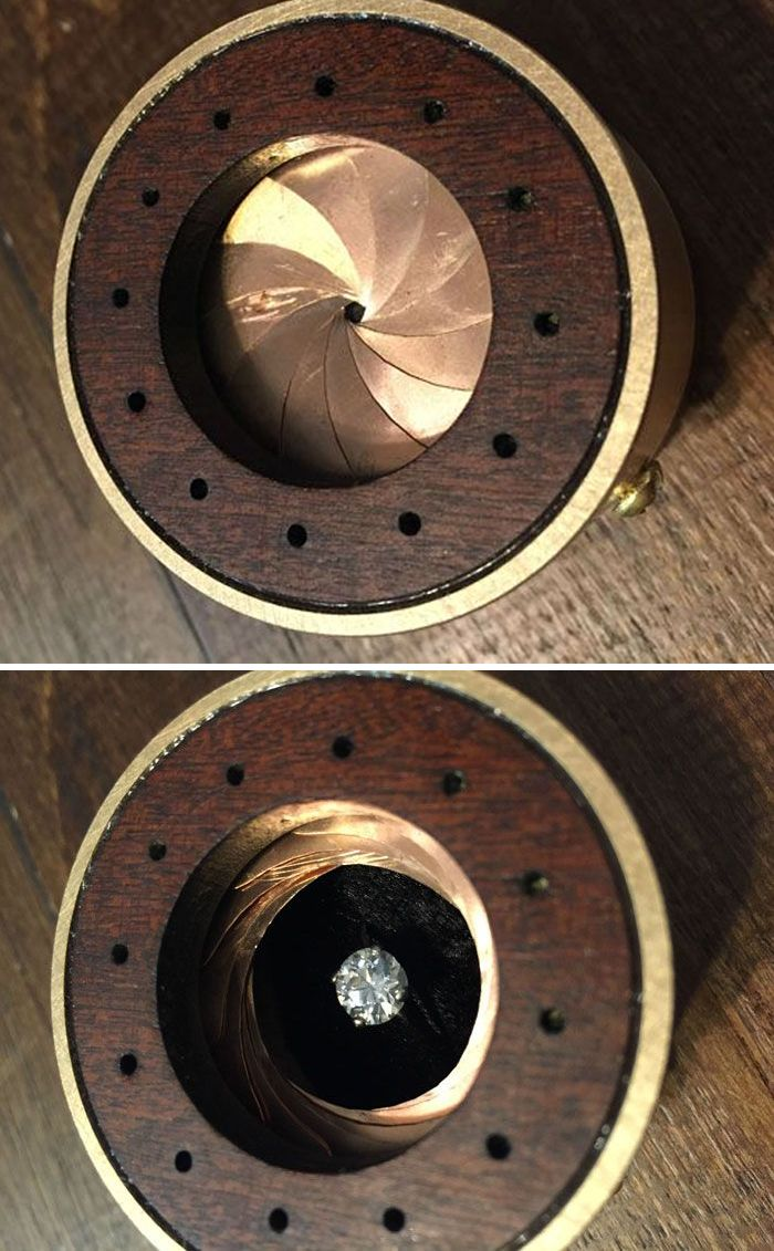 Guy Spends 60 Hours Making Perfect Ring Box To Propose To Photographer  Girlfriend Diy Engagement Ring Boxproposalsmake Your Own