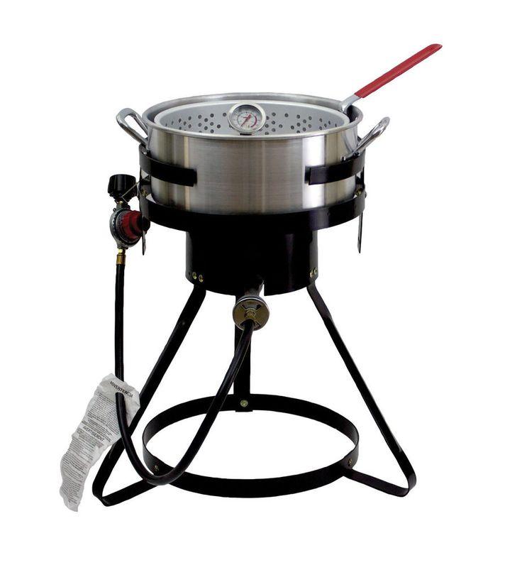 Chard 50,000 BTU 10.5 Qt Propane Outdoor Deep Fryer! Aluminum Fish Gas Cooker #Chard