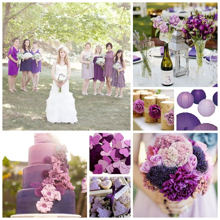 Purple, Plum and Lilac Wedding Inspiration Board