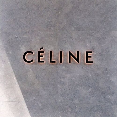 LOVE the pink and black colour combo teamed with Celine's gorgeous logo