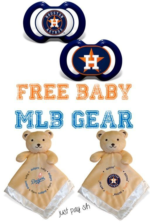 Baseball Game Outfit for Baby! Help Baby cheer on your favorite baseball team with a Free Blankie Bear and a Free Baby Pacifier Set!  SO cute and make such great gifts, too!
