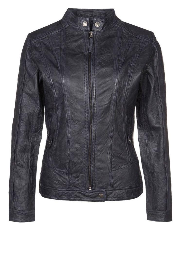 Cigno Nero VICTORIA Leather jacket blue