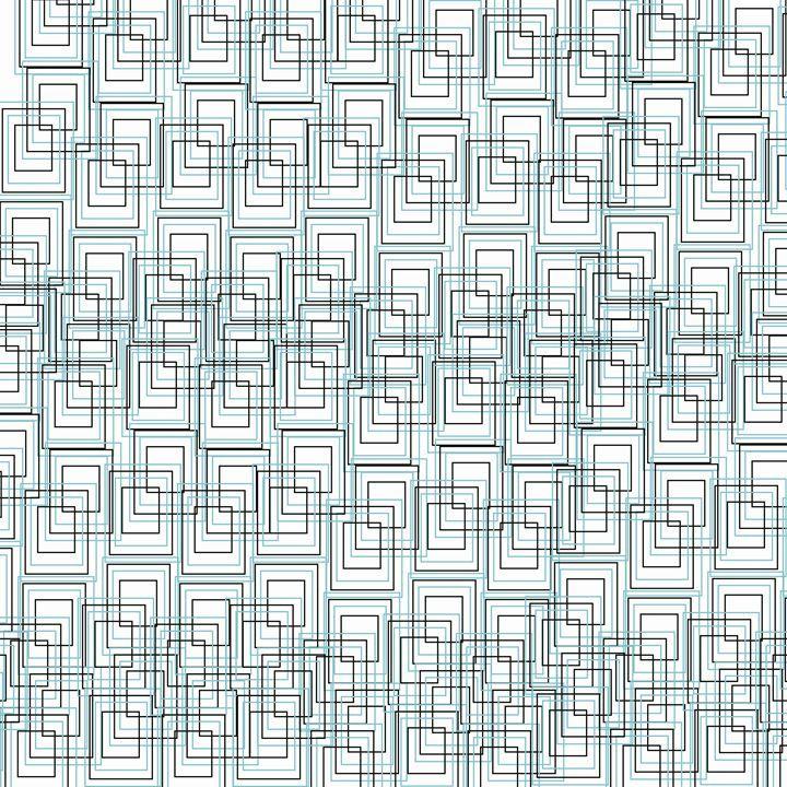 Geometric Series - LaConnieCreations #laconniecreations #shapes#patterns#blue#black#color #digitalart #art #artwork