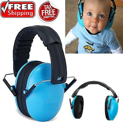 Baby Earmuff Noise Sound Cancelling Ear Protector Toddler Hearing Safe Sky Blue