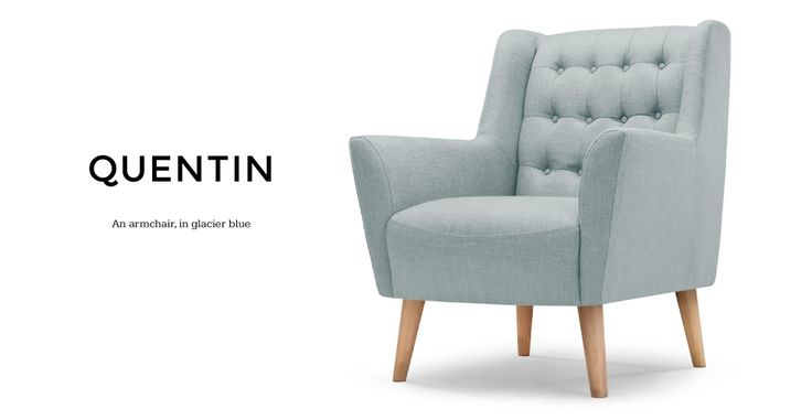 Quentin Armchair in glacier blue | made.com