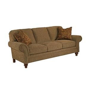 Nebraska Furniture Mart U2013 Broyhill Traditional Brown Sofa With Rolled Arms