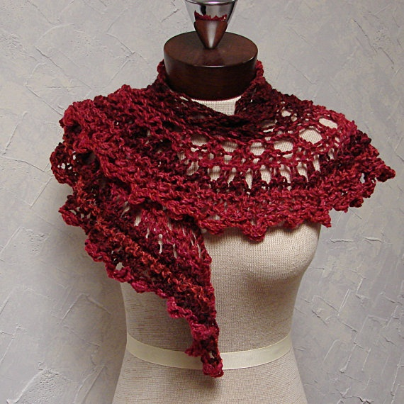 Quick Lace Scarf Knitting Pattern : Pattern for Shawl Quick Lace Hand Knit Shawl Pattern