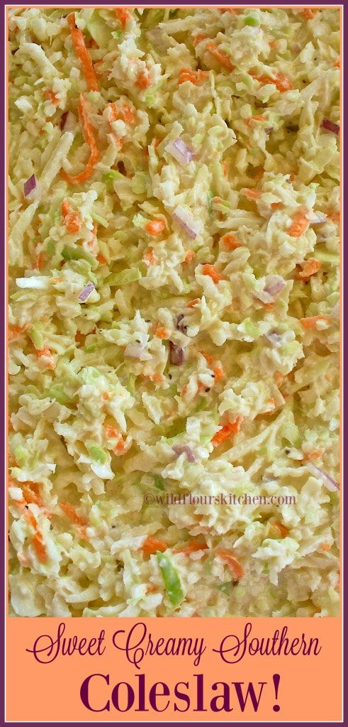 Sweet Creamy Southern Cole Slaw   – Side dishes