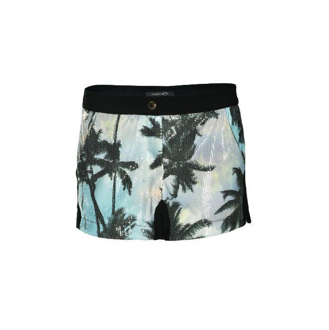 Naughty Dog SS15 palm printed shorts
