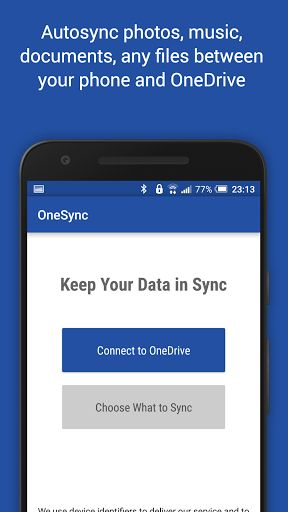 Autosync OneDrive - OneSync v2.9.1 [Ultimate]   Autosync OneDrive - OneSync v2.9.1 [Ultimate]Requirements:Android 4.0.3 and upOverview:OneSync lets you automatically sync and share unlimited files and folders with Microsoft OneDrive cloud storage and with your other devices.  It is an ideal tool for photo sync photo upload musicdownload document andfilebackup automaticfiletransfer automaticfilesharing between devices... New files in your device are instantly uploaded to OneDrive. New files…