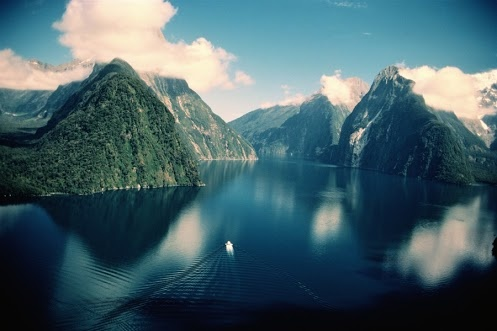 Fjordlands National Park, South Island, New Zealand.  We sailed through this a few times throughout my first contract
