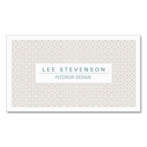 chic interior designer soft pattern business card
