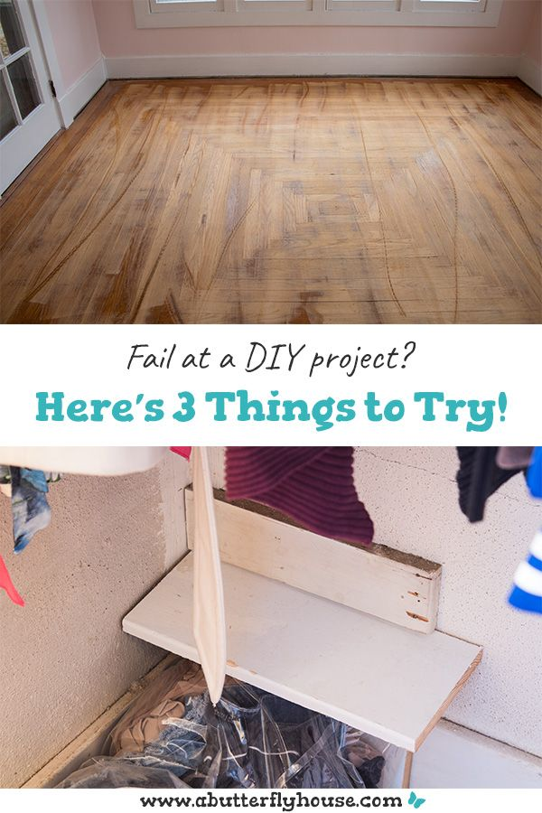 3 Things To Do When You Fail At A Diy Project A Butterfly House Diy Projects To Improve Your Home Projects Diy
