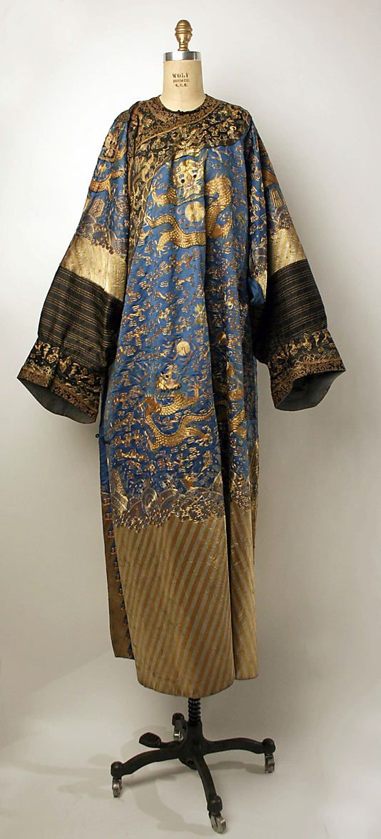 Court robe, 19th century, Chinese, silk and metal, Metropolitan Museum of Art