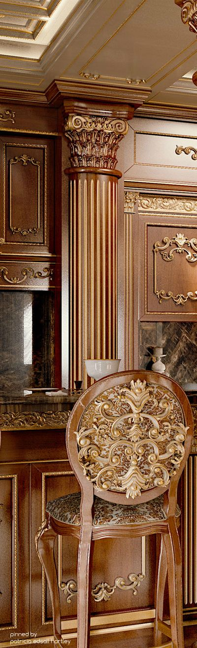 Regal #BrownandGold #WhiteandGold Luxury Interior Design #CorinthianPillar
