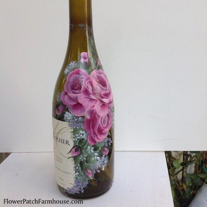 398 best images about one stroke glass painting on pinterest for Wine glass painting tutorial