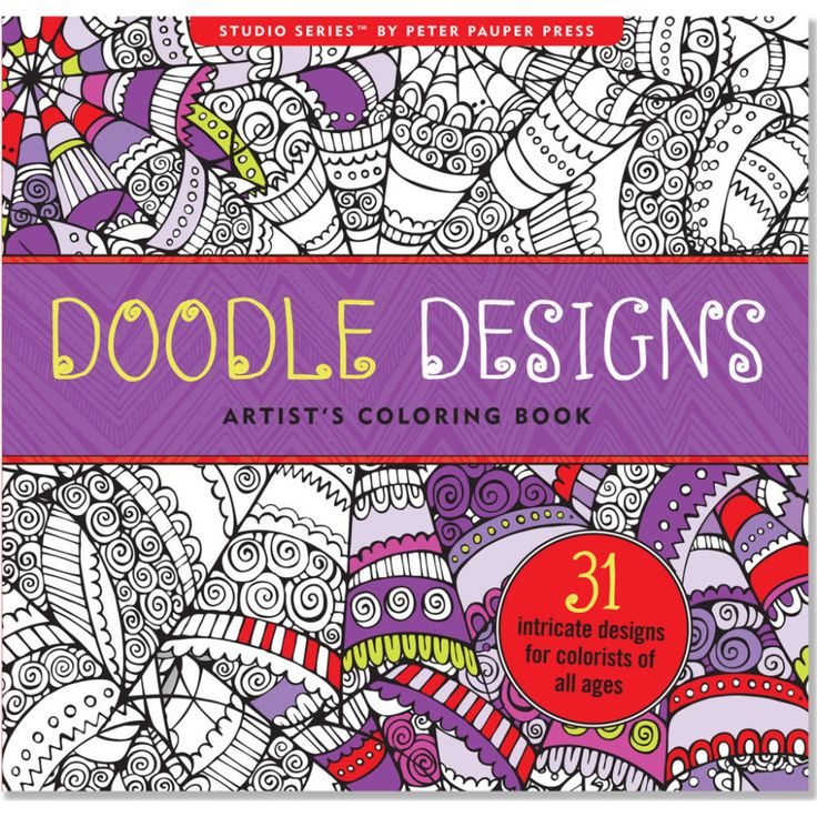Doodle Designs Artists Coloring Book