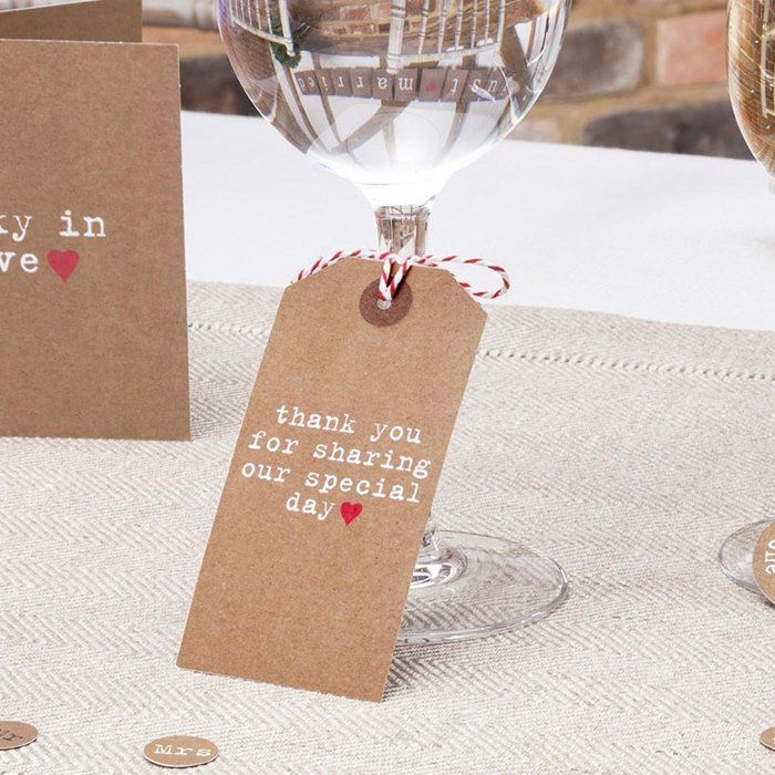 wedding table decorations large tags just my type