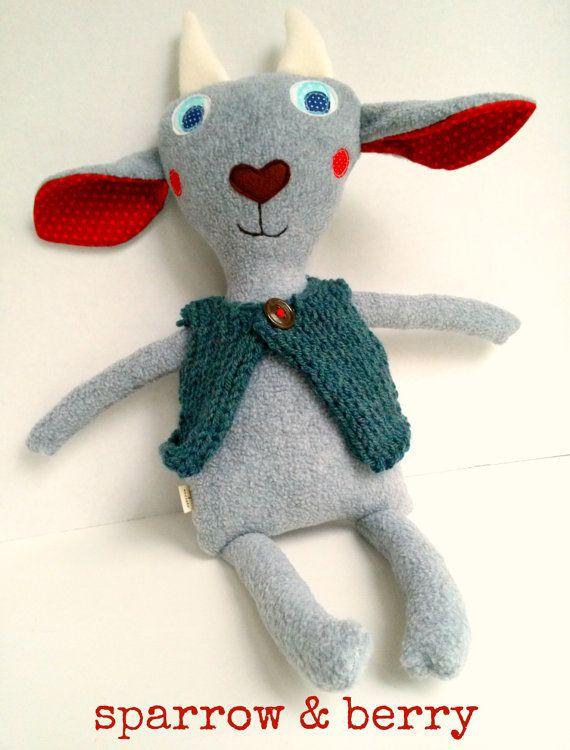 Plush goat doll Stuffed animal goat Goat by sparrowandberry