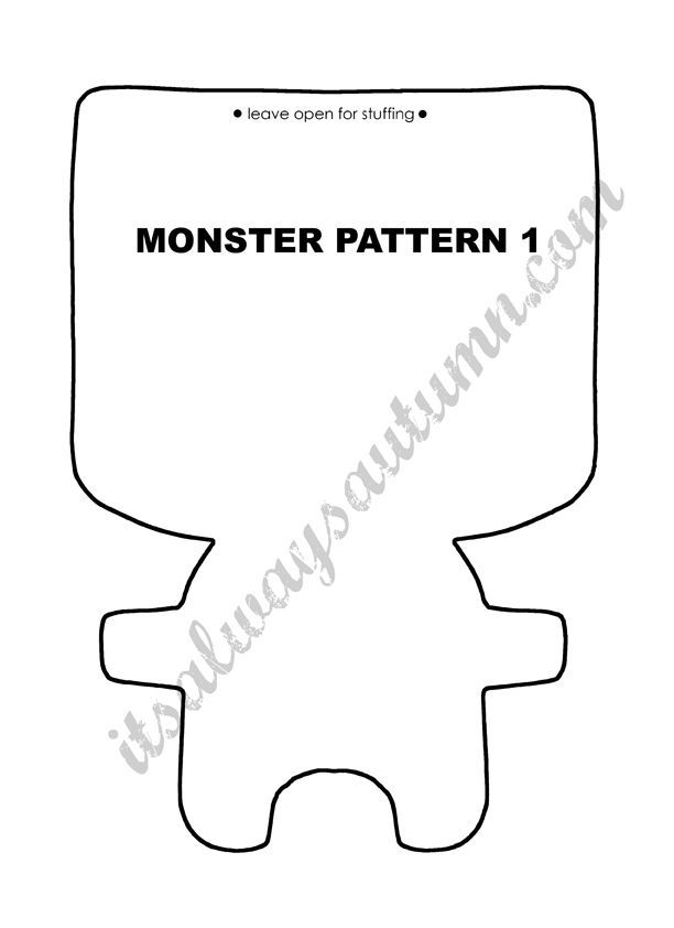 Download a free sewing pattern for felt monsters, including mix-n-match features and accessories, and make a special toy for your child. tutorial included.