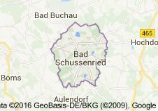 Karte von Bad Schussenried Deutschland