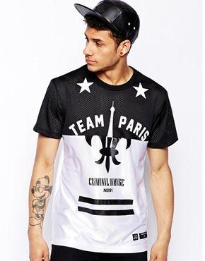 Camiseta extragrande con estampado Paris de Criminal Damage