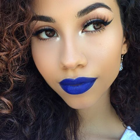 "IG user @briciaemilyn looks gorgeous with NYX Cosmetics Liquid Suede Cream Lipstick in ""Jet Set!"" Have you seen our extended colors yet?"