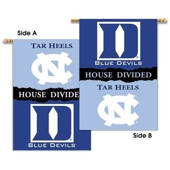 North Carolina vs Duke House Divided 2 Sided Banner Flag
