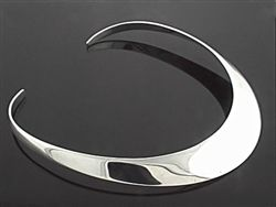 Sterling silver collar 20mm pulp front