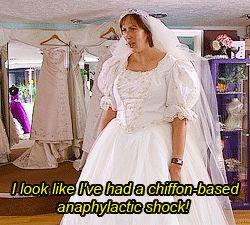 Miranda Hart bride