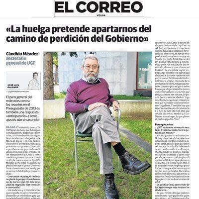 Entrevista a Cándido Méndez en El Correo