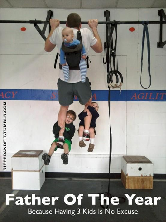 """""""Father of the year""""... Because having 3 kids is no EXCUSE! If you want it you will do it! http://mmorris.webs.com or  https://www.facebook.com/MMorrisFitness"""