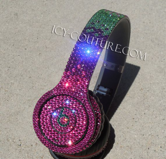 Whats Your Colors? Bling FABULOUS Solo Wireless, Studio, any types of BEATS with Swarovski Crystals! Custom Bedazzled by hand - Lifetime Warranty -