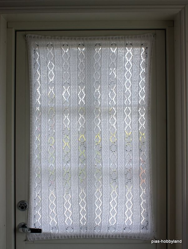 strikket gardin til vindu i dør knitted curtain