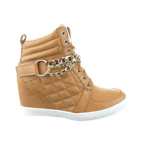 Sopily - Scarpe da Moda alti alla caviglia donna paillette fibbia verniciato Tacco zeppa 6.5 CM - Nero WLD-12-YD-2 T 38 vB4EmzQTM8