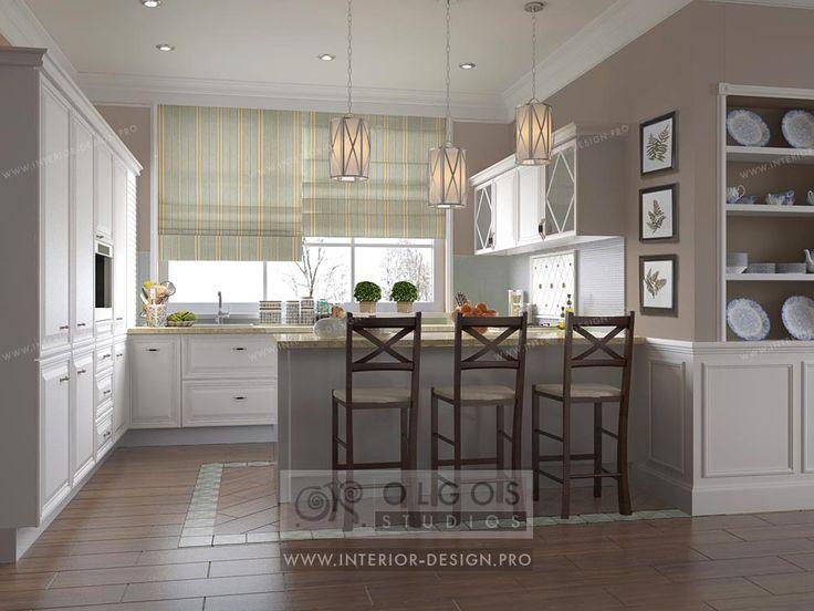 Provence style kitchen interior http://interior-design.pro/en/house-interior-design