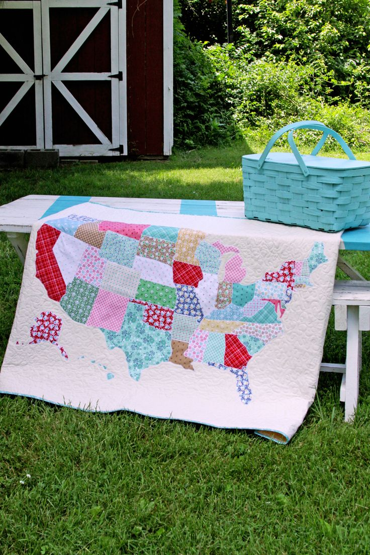 Best Images About Quilting DIY On Pinterest Free Pattern - Us state map diy photos