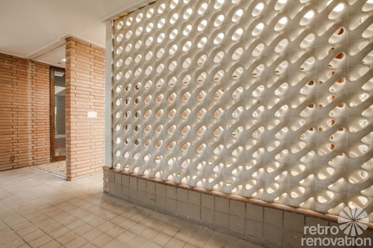1000 images about cinder block walls on pinterest mid century cinder blocks and fort worth - Decorating concrete walls ...