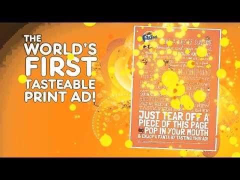Fanta's Tastable Print Ad