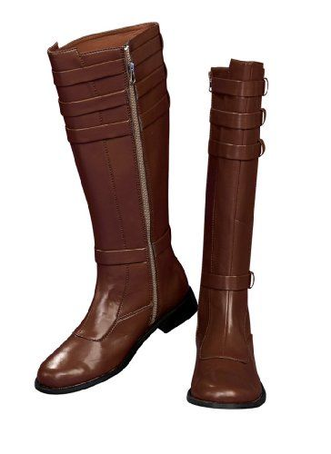 Buy Rubie's Costume Men's Star Wars Adult Obi Wan Kenobi Boots  **    100% Synthetic** **    Imported** **    Hand Wash** **    1 Pair of costume boots** **    Search Rubies Obi-Wan Kenobi Costume for coordinating full outfit** **    Star Wars costume merchandise from Rubies is officially licensed by Lucasfilms Ltd** **    Available in small, medium and large** **    Witches to wenches to vampires to vagrants, from Graceland to galaxies far, far away, Rubies is sure to offer the seasonal…