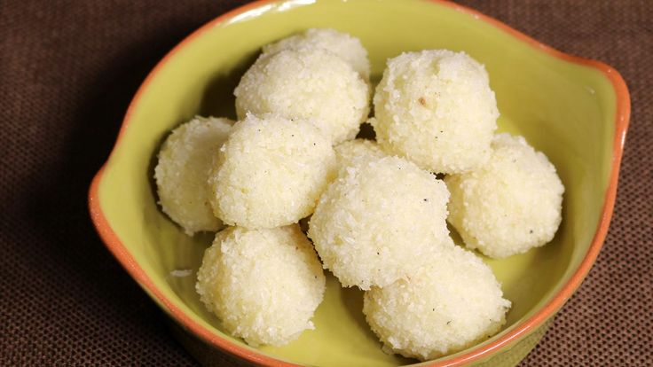 Coconut ladoos are a rich, sweet dessert-snack. This is made for many festive occasions. Coconut laddoo is a very simple and easy recipe to make. These are made with few ingredients. Traditionally in Indian households ladoos are served as fudge candies.