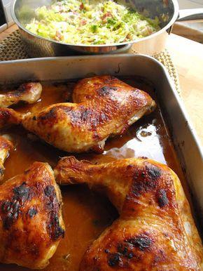 As receitas lá de casa: Coxas de frango com molho barbecue e couve salteada