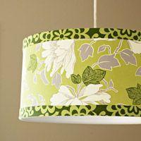 Make a Fabric-Covered LampshadeDining Room, Crafts Ideas, Fabrics Cov Lampshades, Lamps Shades, Chandeliers Chic, Fabriccov Lampshades, Covers Lampshades, Diy, Fabrics Covers