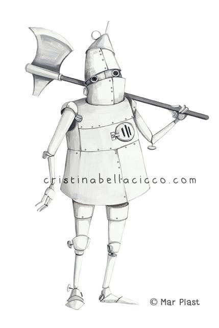 """The Tin Man"" illustration Colored Edition by Mar Plast © Cristina Bellacicco"