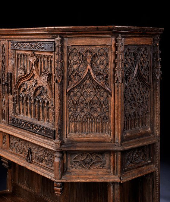 les 337 meilleures images du tableau meubles renaissance gothique m di val en europe. Black Bedroom Furniture Sets. Home Design Ideas