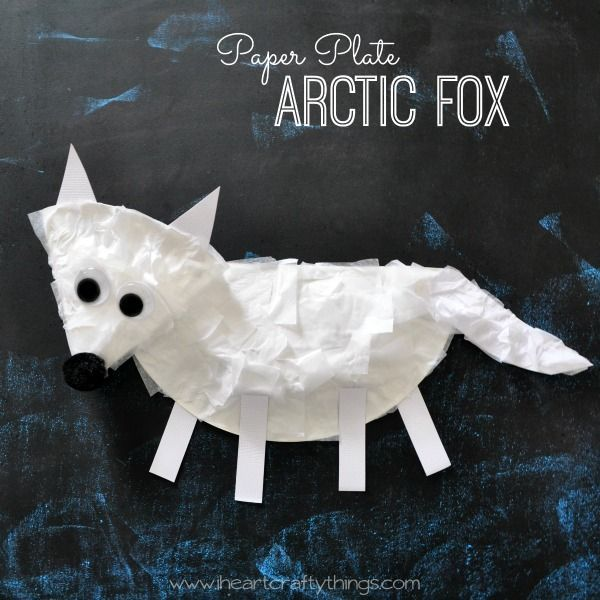 Paper Plate Arctic Fox Craft for Kids | I Heart Crafty Things